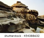 stone canyon beautiful and...   Shutterstock . vector #454388632
