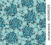 floral texture light blue | Shutterstock .eps vector #454390255