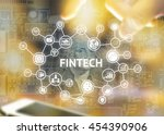 fintech investment financial... | Shutterstock . vector #454390906