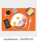 vector images of breakfast food | Shutterstock .eps vector #454399762