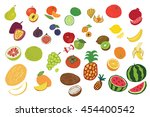 fruits graphic color set | Shutterstock . vector #454400542