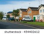 suburban residential street... | Shutterstock . vector #454402612