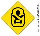"sticker ""baby on board"". symbol ... 