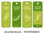 hand drawn label set with... | Shutterstock . vector #454406065