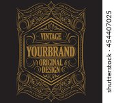 antique label  vintage frame... | Shutterstock .eps vector #454407025