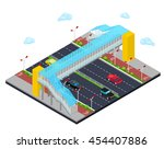 isometric city road with... | Shutterstock .eps vector #454407886