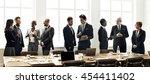 business people meeting... | Shutterstock . vector #454411402
