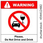 vector don t drink and drive... | Shutterstock .eps vector #454412482