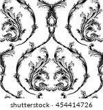 baroque damask with classic... | Shutterstock .eps vector #454414726