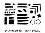 set of grunge textures. black... | Shutterstock .eps vector #454419682