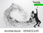 silhouette of a tennis player... | Shutterstock .eps vector #454422145