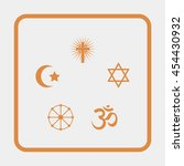 religion signs. | Shutterstock .eps vector #454430932