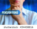 pension fund title button ... | Shutterstock . vector #454438816