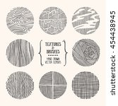 hand drawn textures and brushes.... | Shutterstock .eps vector #454438945