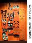 native american wood...   Shutterstock . vector #454440295