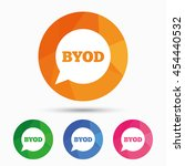 byod sign icon. bring your own... | Shutterstock .eps vector #454440532