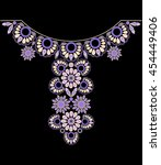 neckline ethnic design.... | Shutterstock .eps vector #454449406