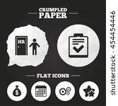 crumpled paper speech bubble....   Shutterstock .eps vector #454454446