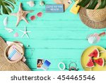 summer vacation holiday nature... | Shutterstock . vector #454465546