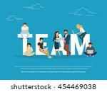 project teamwork concept... | Shutterstock .eps vector #454469038