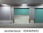 roller shutter door and... | Shutterstock . vector #454469692