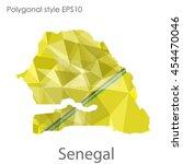 senegal map in geometric... | Shutterstock .eps vector #454470046