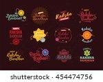 happy raksha bandhan. indian... | Shutterstock .eps vector #454474756