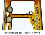hydraulic load indicator in... | Shutterstock . vector #454474945