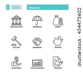 flat symbols about finance.... | Shutterstock .eps vector #454475602