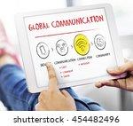 internet multimedia technology... | Shutterstock . vector #454482496
