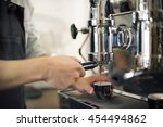 barista coffee maker machine... | Shutterstock . vector #454494862