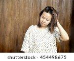 women be drowsy   Shutterstock . vector #454498675