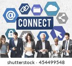 connect interconnection... | Shutterstock . vector #454499548