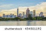 city park in bangkok  thailand  ... | Shutterstock . vector #454501192