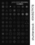 sacred geometry mega bundle. 72 ... | Shutterstock .eps vector #454507978
