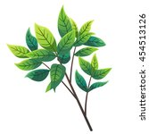 tree branch cartoon style ... | Shutterstock .eps vector #454513126
