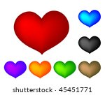 heart collection | Shutterstock .eps vector #45451771