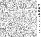 hand drawn rest seamless... | Shutterstock .eps vector #454523422