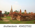 wat mahathat  the old thai... | Shutterstock . vector #454527532