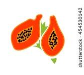 papaya logo vector.   Shutterstock .eps vector #454530142
