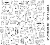 education tools doodles vector... | Shutterstock .eps vector #454543066