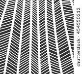 abstract zentangle monochrome... | Shutterstock .eps vector #454550212
