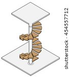 isometric drawing of a spiral... | Shutterstock .eps vector #454557712