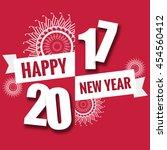 happy new year theme... | Shutterstock . vector #454560412