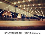 image of wooden table in front... | Shutterstock . vector #454566172