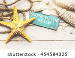 beach coast nature paradise... | Shutterstock . vector #454584325