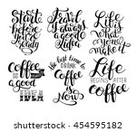 black and white inspirational... | Shutterstock .eps vector #454595182