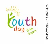 youth day logo template | Shutterstock .eps vector #454596376