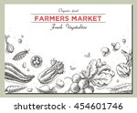 templates for label design with ... | Shutterstock . vector #454601746