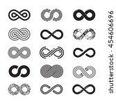 infinity symbol  vector set.